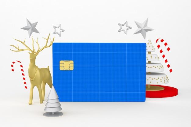 Maqueta de tarjeta de crédito navideña