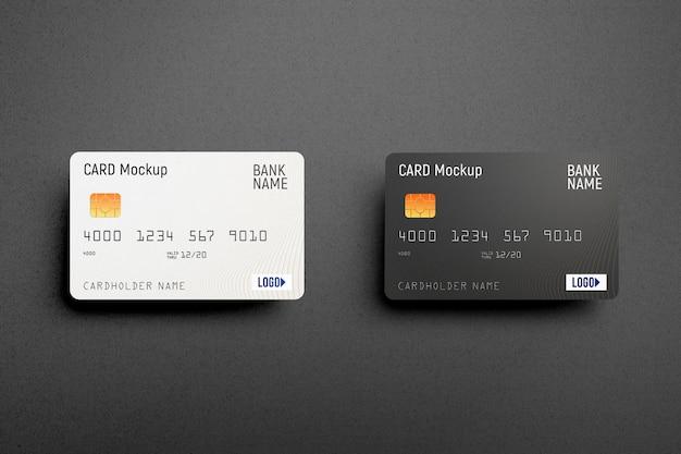 Maqueta de tarjeta de crédito de plástico