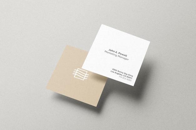 Maqueta de tarjeta cuadrada