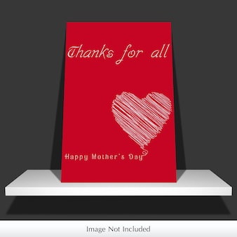 Maqueta de la tarjeta del día de la madre