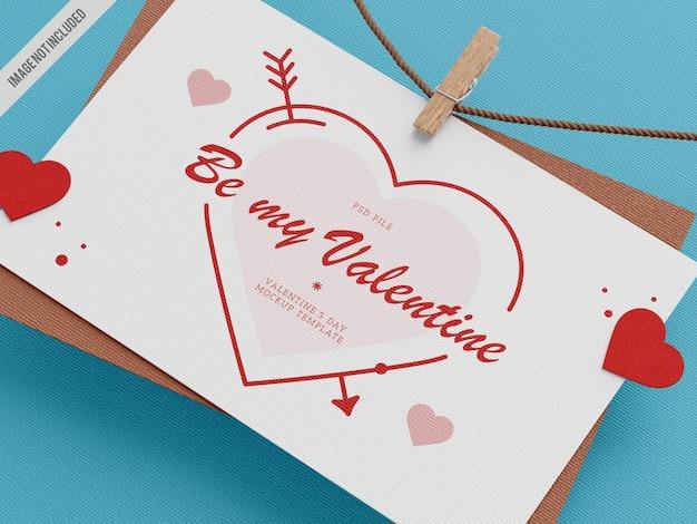 Maqueta de la tarjeta del día de san valentín