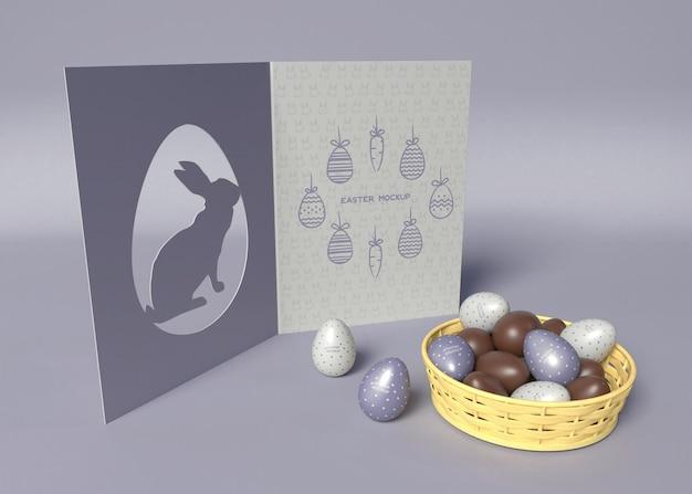 Maqueta de tarjeta de felicitación de pascua