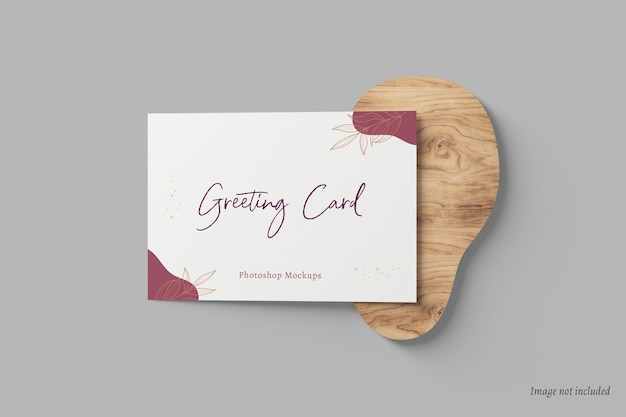 Maqueta de tarjeta de felicitación