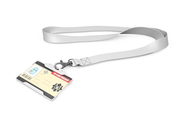 Maqueta de la tarjeta de identificación en el collar
