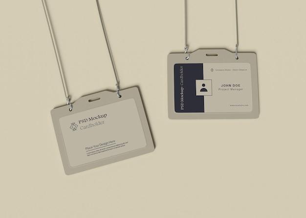 Maqueta de tarjeta de identificación