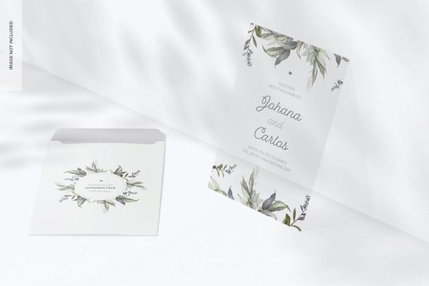 Maqueta de tarjeta de invitación de acrílico esmerilado