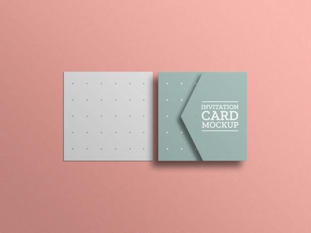 Maqueta de tarjeta de invitación mínima