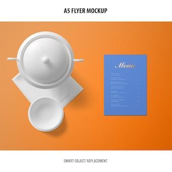 Maqueta de tarjeta de menú
