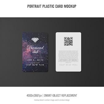 Maqueta de tarjeta de plástico de retrato