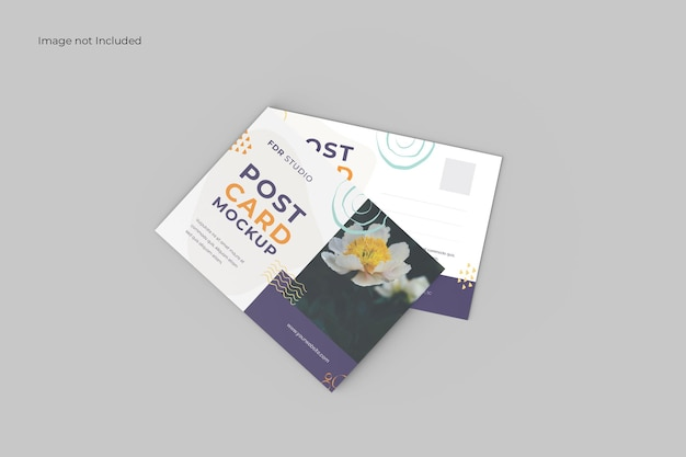 Maqueta de tarjeta postal en perspectiva
