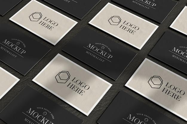 Maqueta de tarjeta de presentación en fila