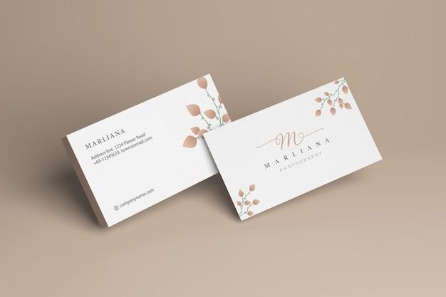 Maqueta de tarjeta de presentación frontal y posterior