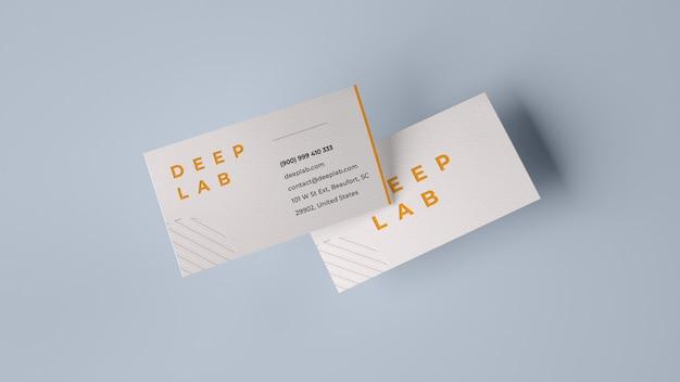 Maqueta de tarjeta de presentación premium