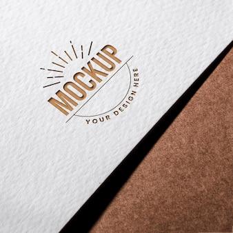 Maqueta de tarjeta de presentación de primer plano