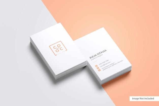 Maqueta de tarjeta de presentación con retrato
