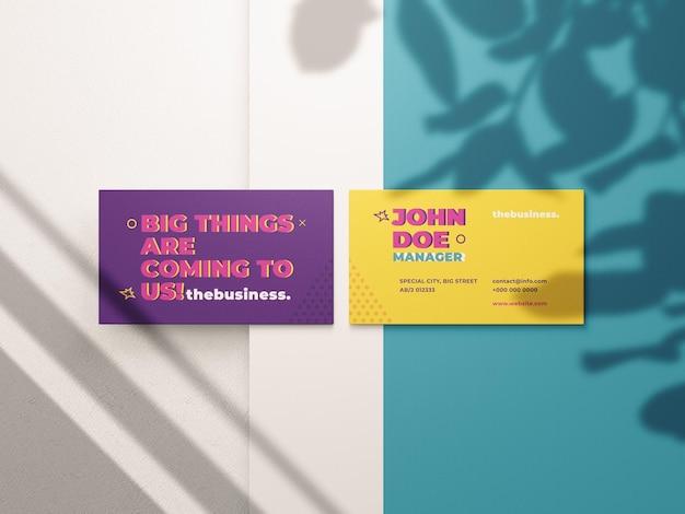 Maqueta de tarjeta de presentación temaplte