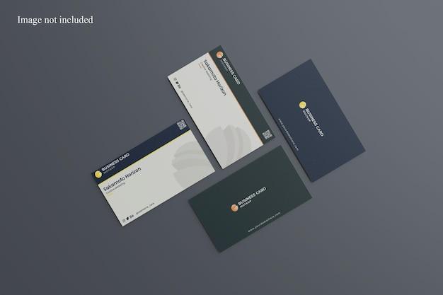 Maqueta de tarjeta de presentación vertical y horizontal