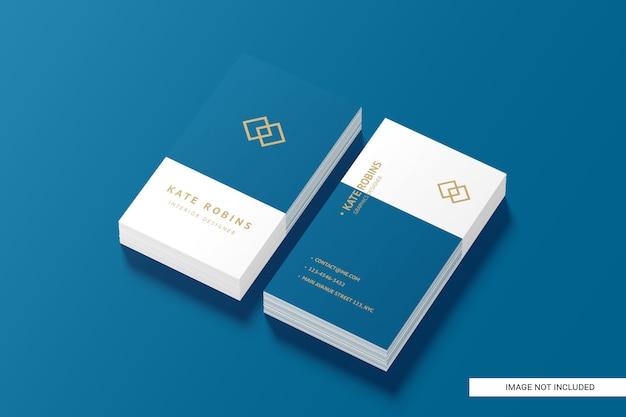 Maqueta de tarjeta de presentación vertical