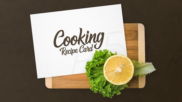 Maqueta de tarjeta de receta de cocina