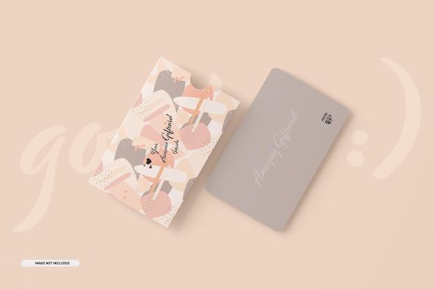 Maqueta de tarjeta de regalo con tarjetero