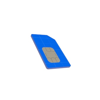 Maqueta de tarjeta sim