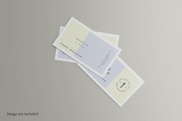Maqueta de tarjeta de visita aleatoria