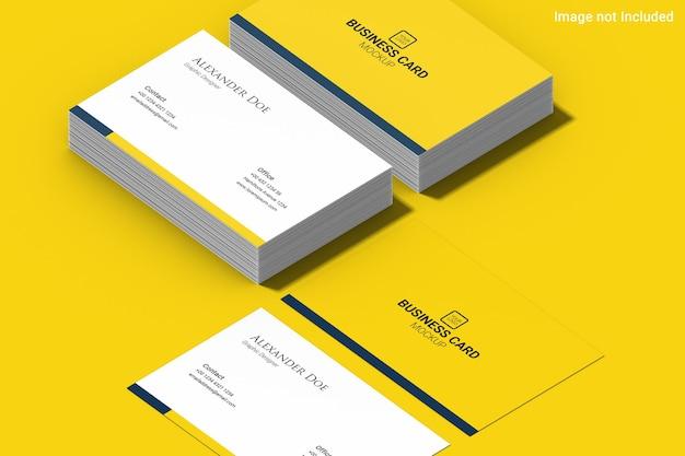 Maqueta de tarjeta de visita amarilla