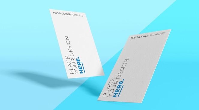 Maqueta de tarjeta de visita blanca premium psd vol.1