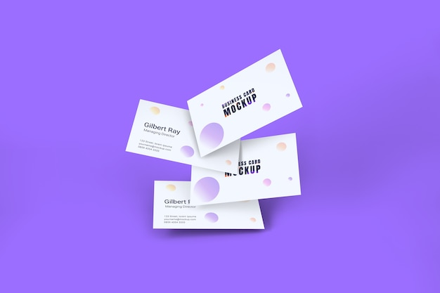 Maqueta de tarjeta de visita blanca