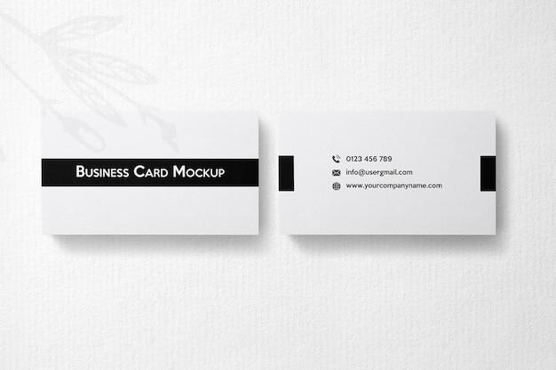 Maqueta de tarjeta de visita en blanco y negro