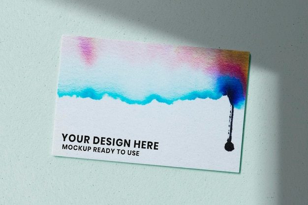 Maqueta de tarjeta de visita de cromatografía psd para artistas creativos