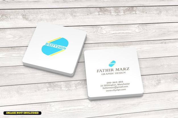 Maqueta de tarjeta de visita cuadrada limpia