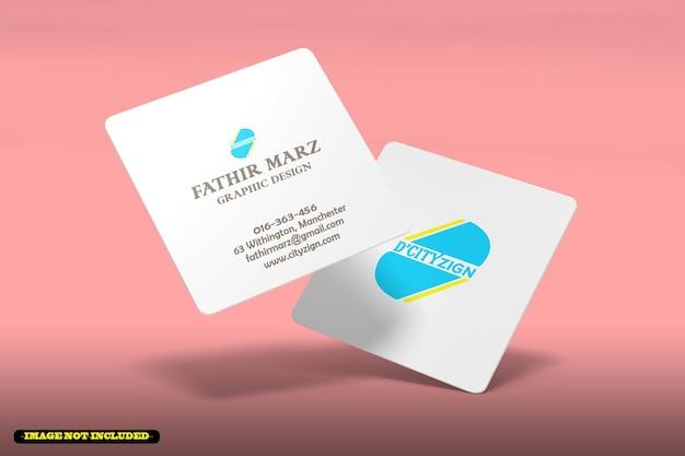Maqueta de tarjeta de visita cuadrada moderna