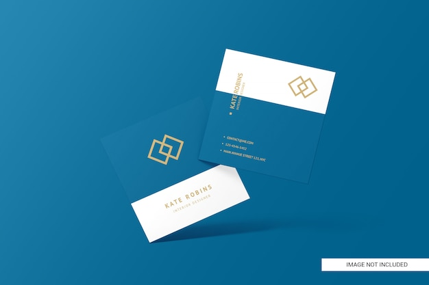 Maqueta de tarjeta de visita cuadrada