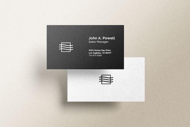 Maqueta de tarjeta de visita delantera y trasera