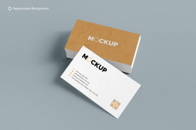 Maqueta de tarjeta de visita de doble cara
