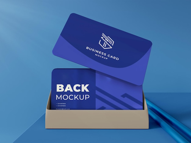Maqueta de tarjeta de visita elegante 3d