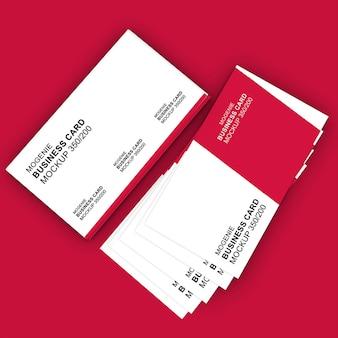 Maqueta de tarjeta de visita elegante, agradable y limpia