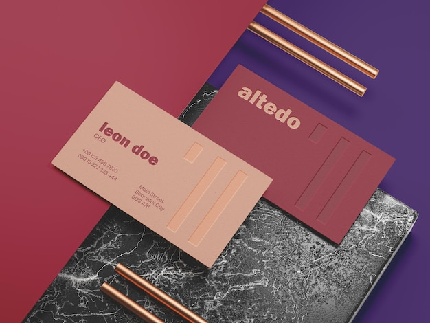 Maqueta de tarjeta de visita elegante tempalte