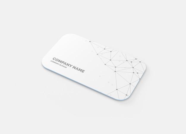 Maqueta de tarjeta de visita de esquina redonda de 10 mm