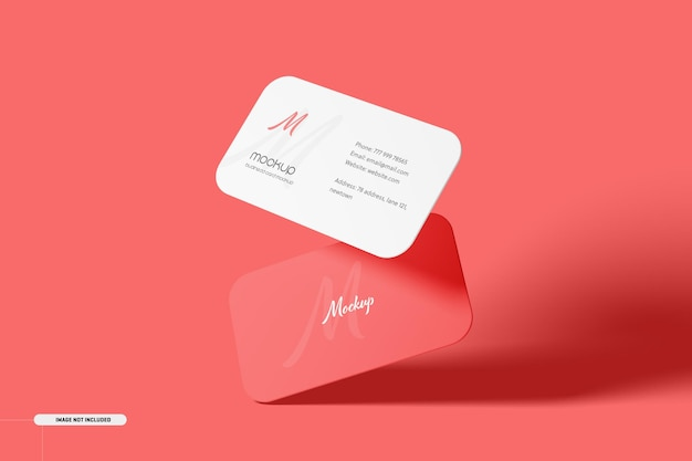 Maqueta de tarjeta de visita de esquina redonda
