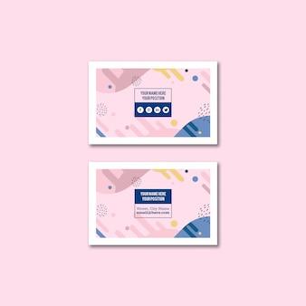 Maqueta de tarjeta de visita de estilo