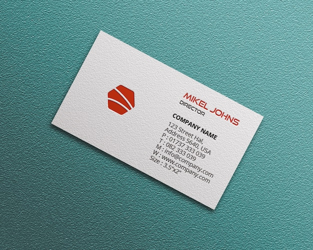 Maqueta de tarjeta de visita de estilos blancos