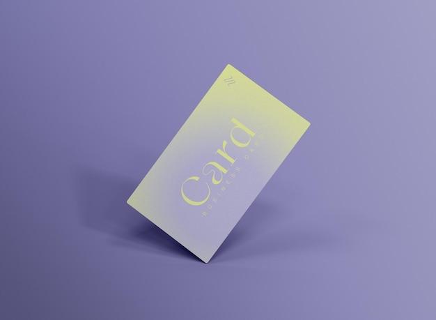 Maqueta de tarjeta de visita flotante 3d