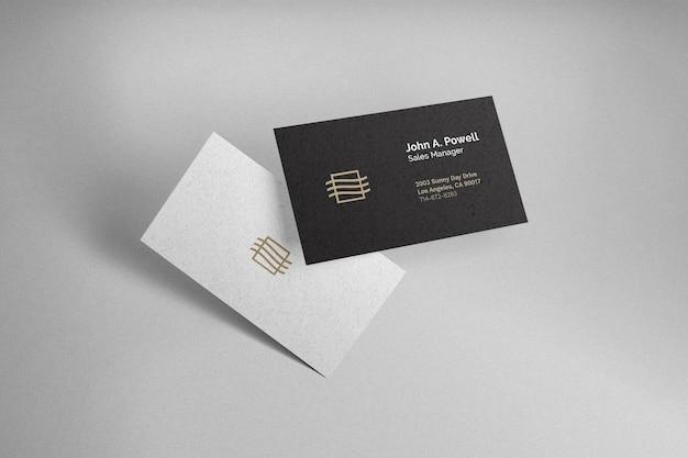 Maqueta de tarjeta de visita flotante