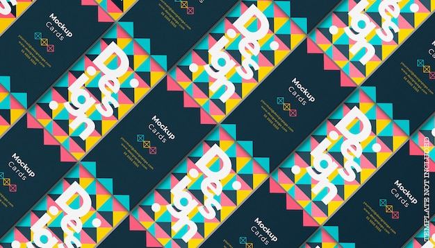 Maqueta de tarjeta de visita geométrica
