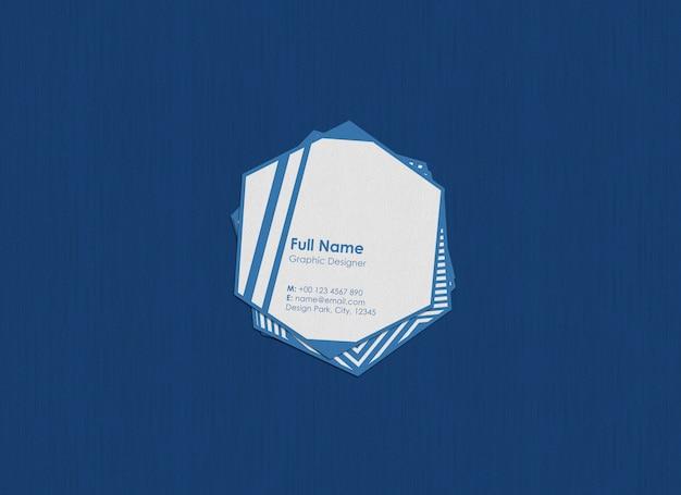 Maqueta de tarjeta de visita hexagonal