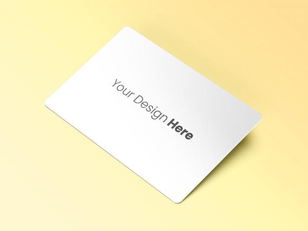 Maqueta de tarjeta de visita inclinada