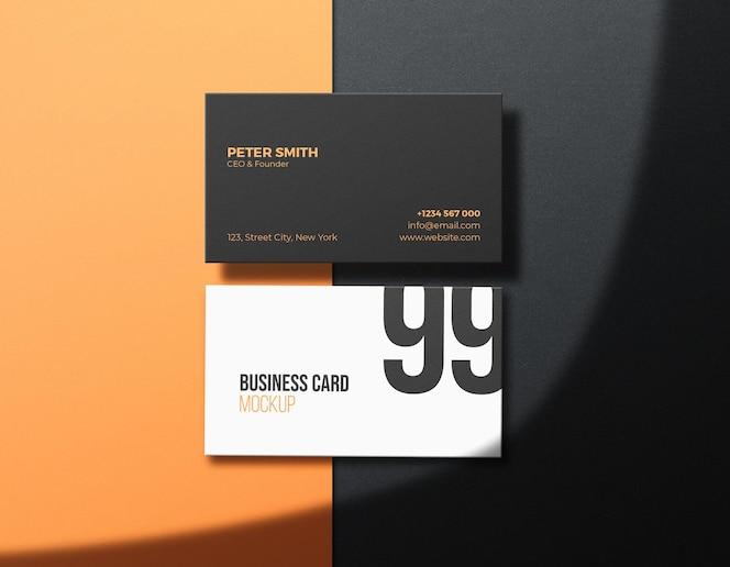 Maqueta de tarjeta de visita limpia corporativa