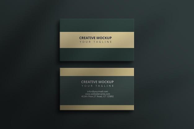 Maqueta de tarjeta de visita de lujo premium photoshop